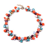 Colorful Bouquet Collar Statement Necklace (Out Of Stock)