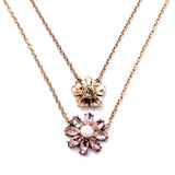 Multi Layer Flower Pendant Necklace