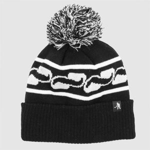 "PASS~PORT ""AUTO"" POM BEANIE BLACK"