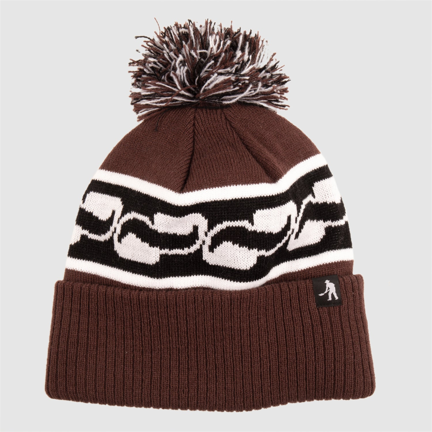 "PASS~PORT ""AUTO"" POM BEANIE CHOCOLATE"