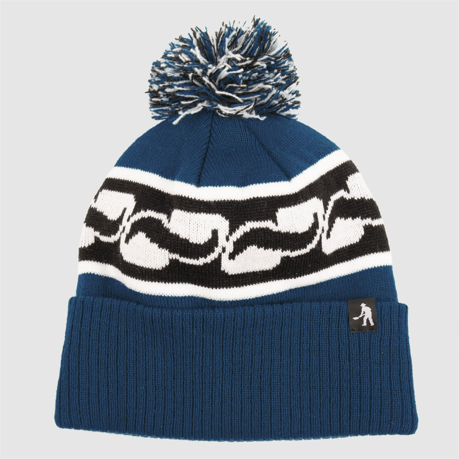 "PASS~PORT ""AUTO"" POM BEANIE NAVY"