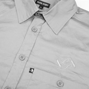 "PASS~PORT ""WORKERS BANNER"" S/S SHIRT STEEL GREY"