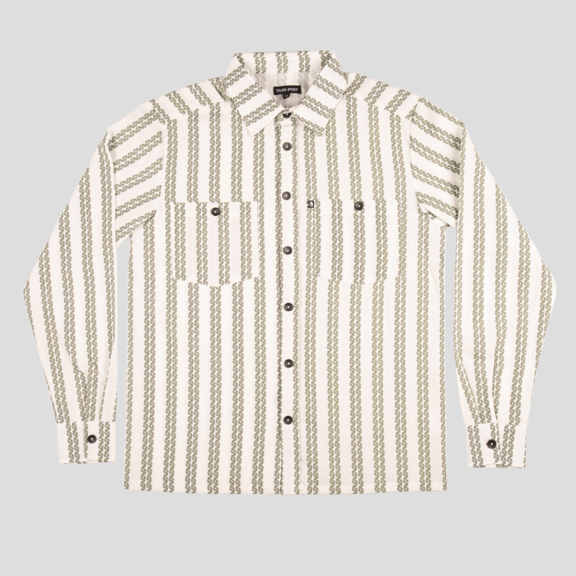 "PASS~PORT ""BARBS"" L/S SHIRT NATURAL"