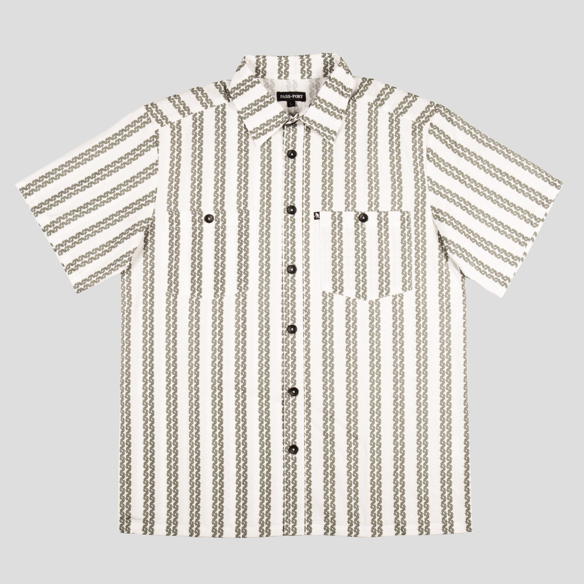 "PASS~PORT ""BARBS"" S/S SHIRT NATURAL"