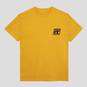 "PASS~PORT ""BOLT"" PATCH TEE GOLD"