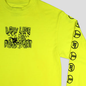 "PASS~PORT LOW LIFE ""BRICK"" L/S TEE SAFETY GREEN"