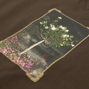 "PASS~PORT ""THE GARDEN OF LIVE FLOWERS"" SWEATER BROWN"