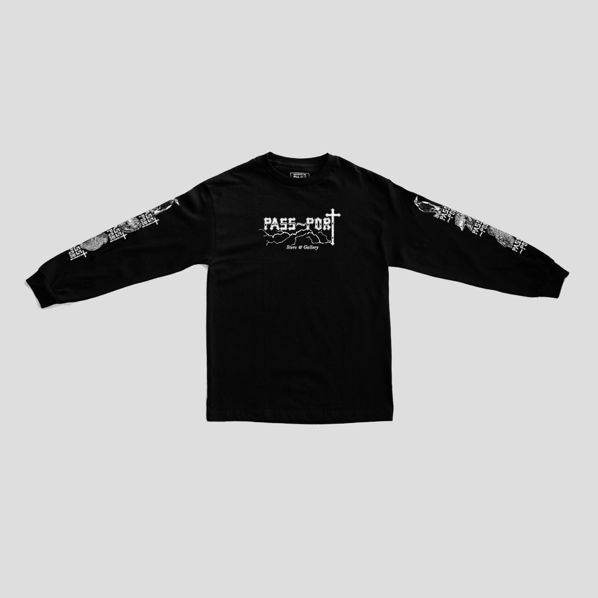 "PASS~PORT ""BIRDS"" L/S TEE BLACK"