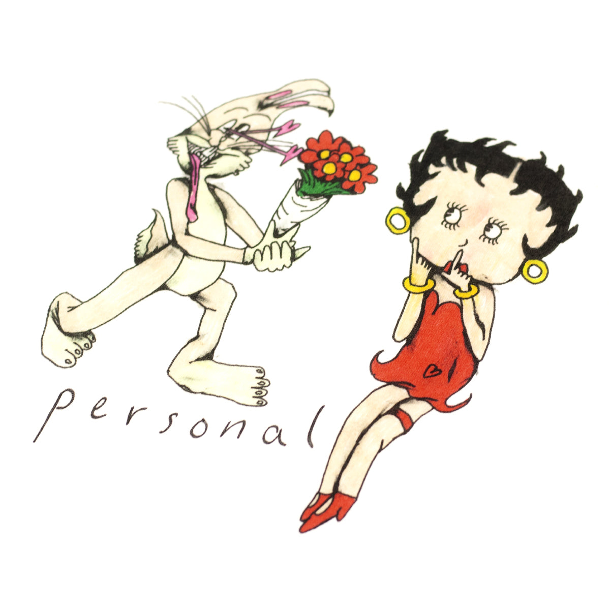 "PERSONAL ""BETTY BOOP"" TEE WHITE"