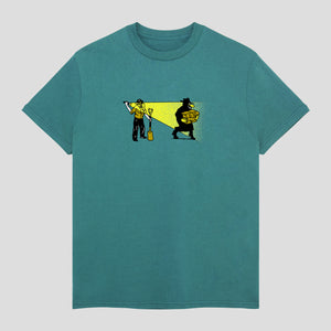 "PASS~PORT ""CAUGHT IN THE ACT"" TEE JADE GREEN"