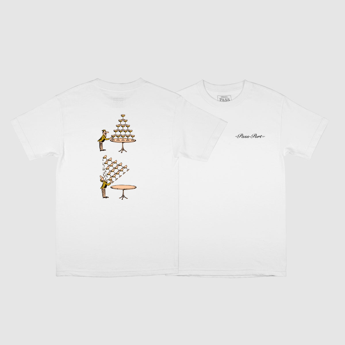 "PASS~PORT ""CHAMPERS"" TEE WHITE"