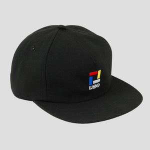 "WKND ""COMPOSITION"" SNAPBACK CAP BLACK"