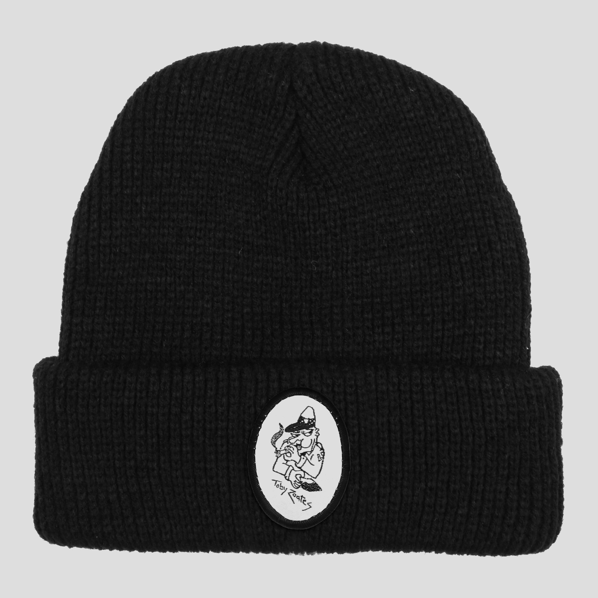 "PASS~PORT TOBY ZOATES ""COPPERS"" BEANIE BLACK"