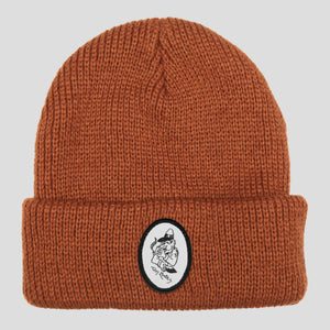 "PASS~PORT TOBY ZOATES ""COPPERS"" BEANIE RUST"