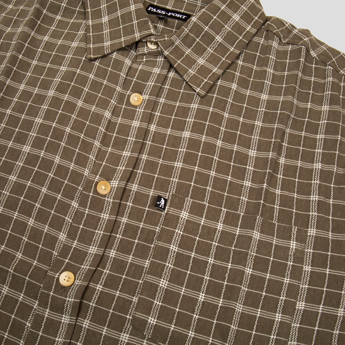 "PASS~PORT ""CROSS CHECK"" S/S SHIRT GREEN"