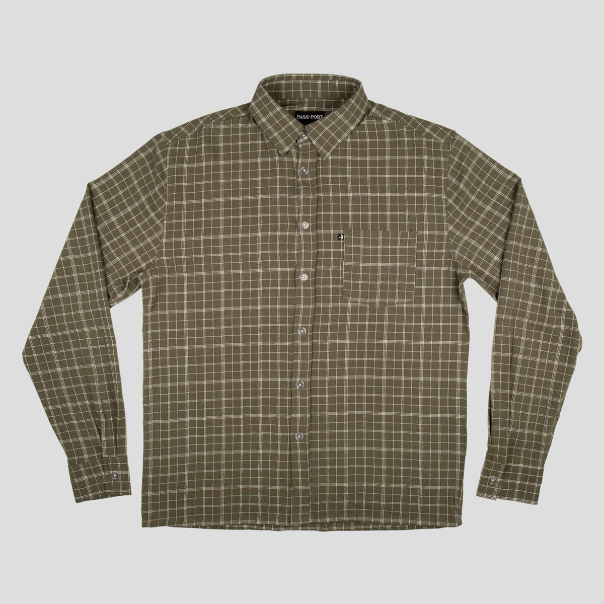 "PASS~PORT ""CROSS CHECK"" L/S SHIRT GREEN"