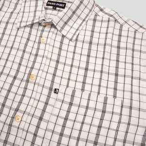 "PASS~PORT ""CROSS CHECK"" L/S SHIRT WHITE"