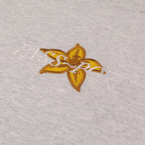 "PASS~PORT ""DAFFODIL APPLIQUE"" L/S TEE ASH"