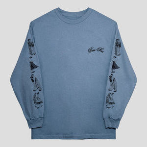 "PASS~PORT ""DANCERS"" L/S TEE STONEWASH BLUE"