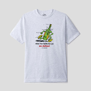 "LO-FI & PASS~PORT ""WE DELIVER"" TEE ASH GREY"
