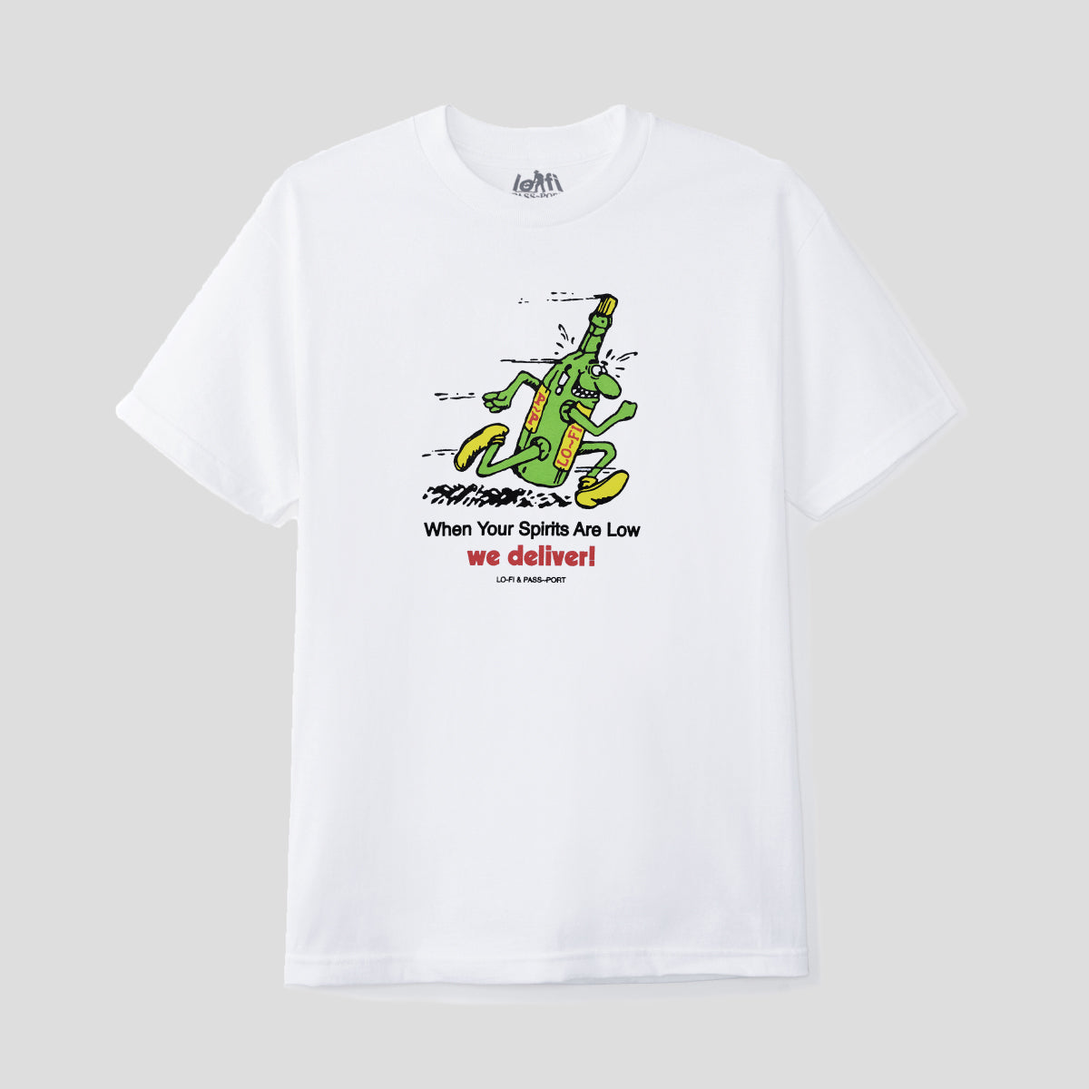"LO-FI & PASS~PORT ""WE DELIVER"" TEE WHITE"