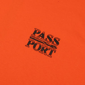 "PASS~PORT ""DRILL BIT"" TEE ORANGE"