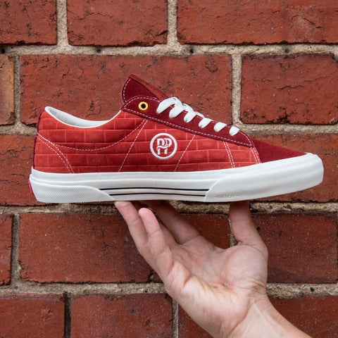"VANS & PASS~PORT ""SID PRO"" SHOE BRICK RED"