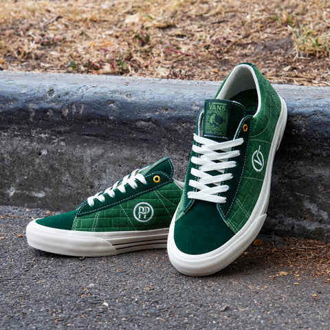 "VANS X PASS~PORT ""SID PRO"" SHOE DARK GREEN"