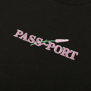 "PASS~PORT ""LAVENDER"" L/S TEE BLACK"
