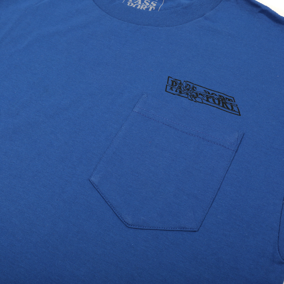 "PASS~PORT ""MIRROR MAN"" TEE ROYAL BLUE"