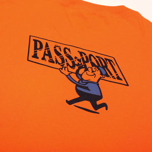 "PASS~PORT ""MIRROR MAN"" TEE ORANGE"