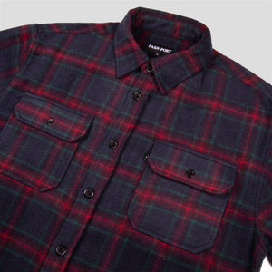 "PASS~PORT ""WORKERS"" FLANNEL NAVY"