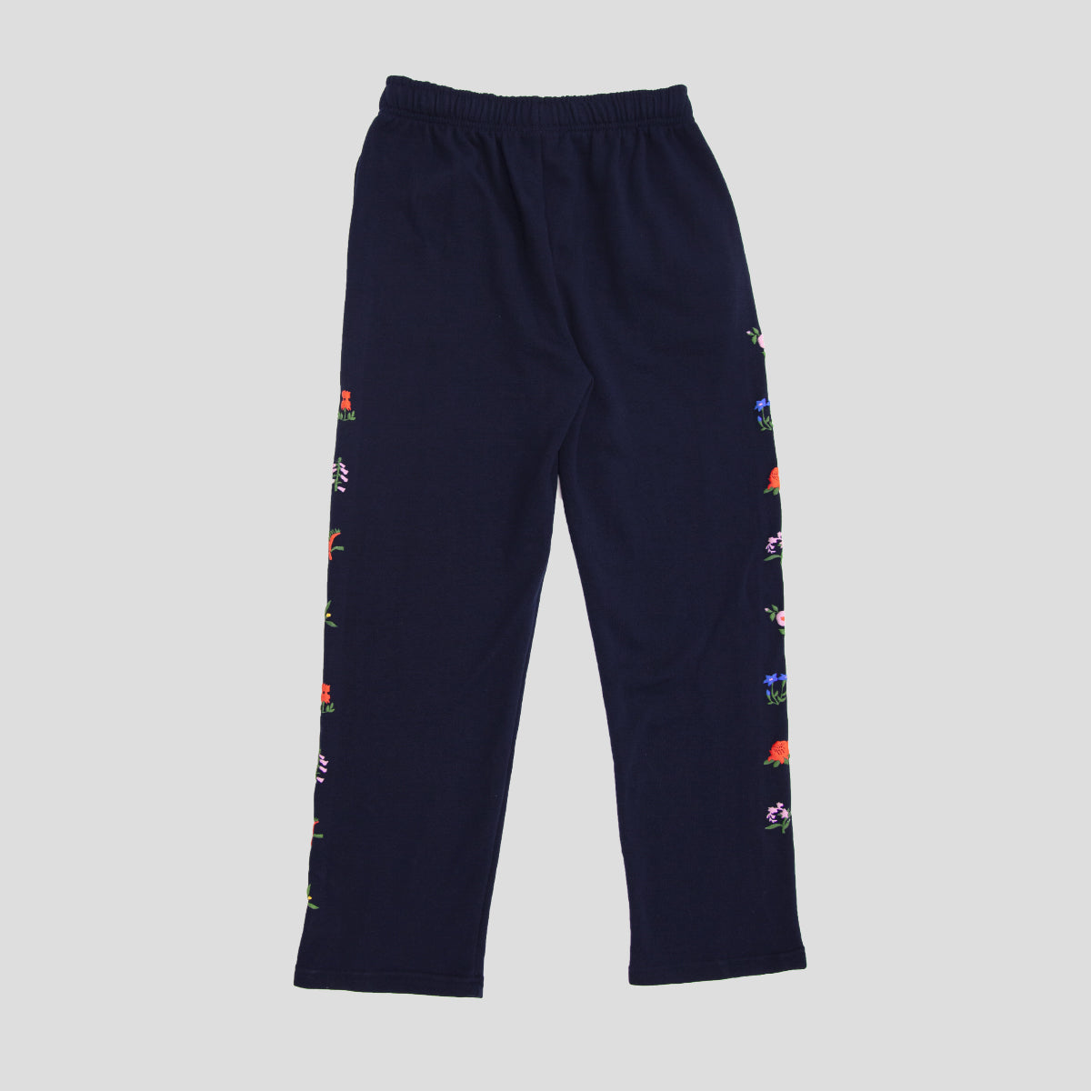 "PASS~PORT ""FLORAL EMBLEM"" PUFF TRACK PANTS NAVY"