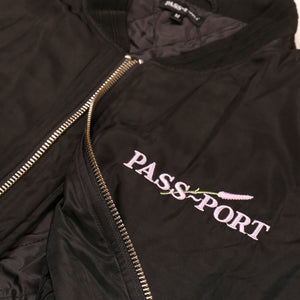 "PASS~PORT ""LAVENDER"" FREIGHT JACKET BLACK"
