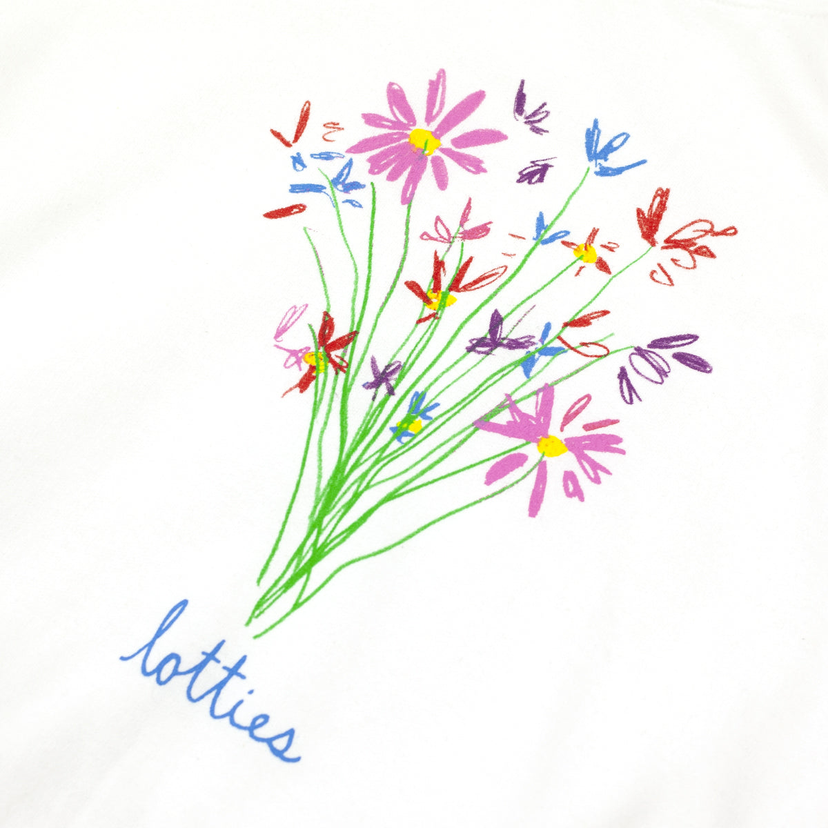 "LOTTIES ""FLOWERS"" SWEATER WHITE"