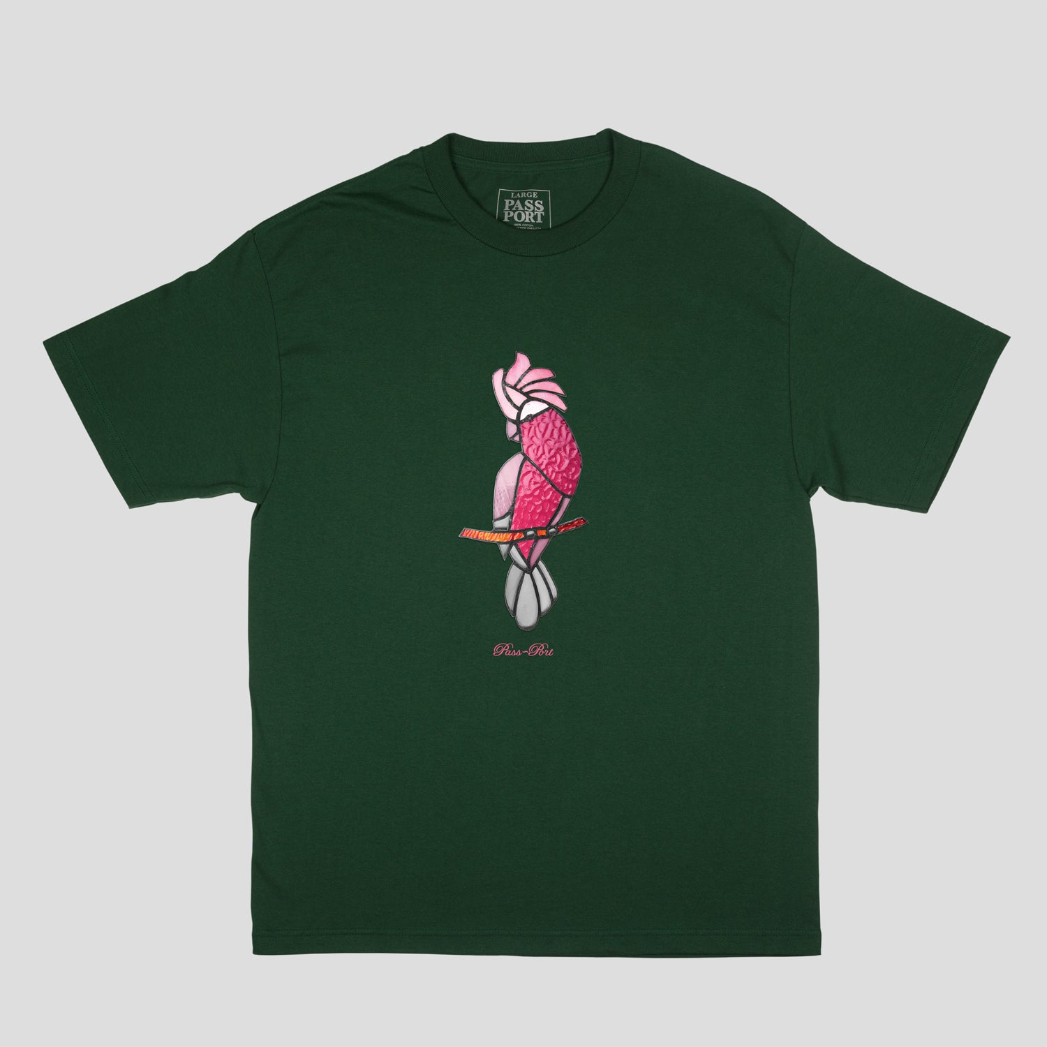 "PASS~PORT ""GLASS GALAH"" TEE FOREST GREEN"
