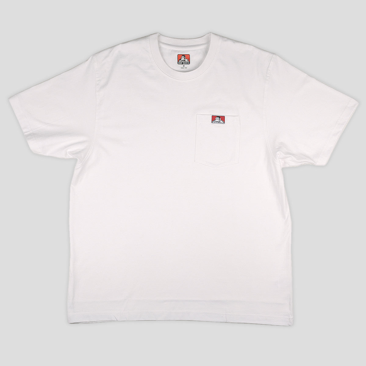 "BEN DAVIS ""HEAVY DUTY"" POCKET TEE WHITE"