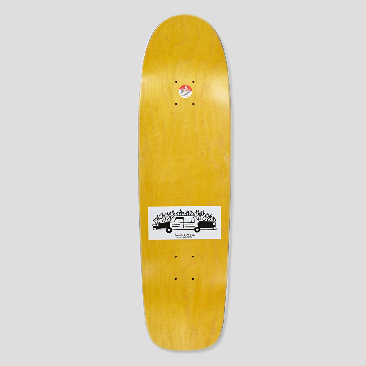 "POLAR SKATE CO. HJALTE HALBERG ""ABUSE OF POWER"" DECK SURF SHAPE"