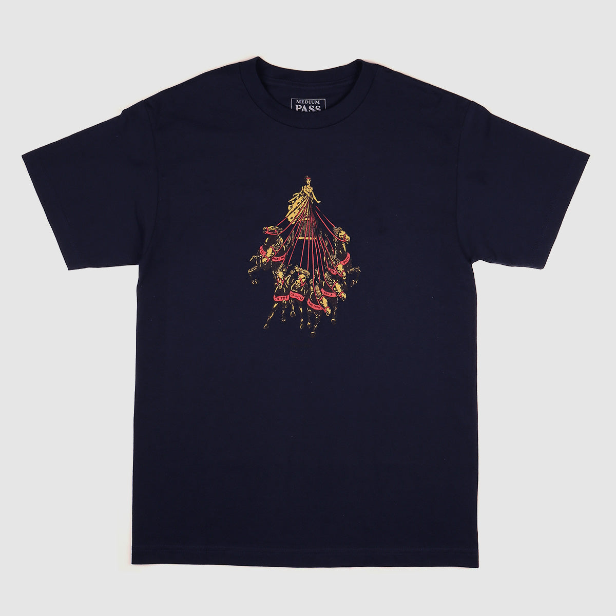 "PASS~PORT ""STATE HORSES"" TEE NAVY"