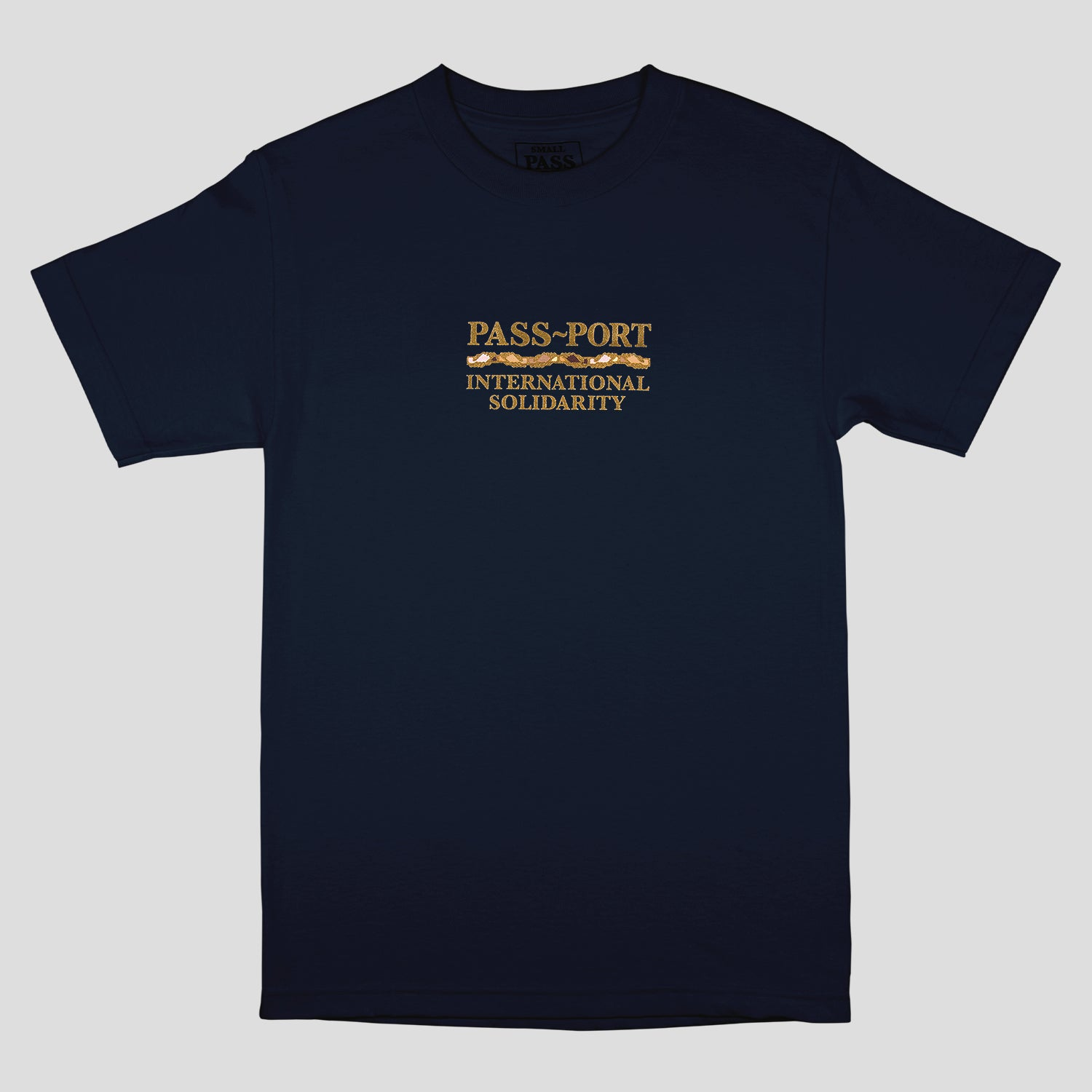 "PASS~PORT ""INTER SOLID"" TEE NAVY"