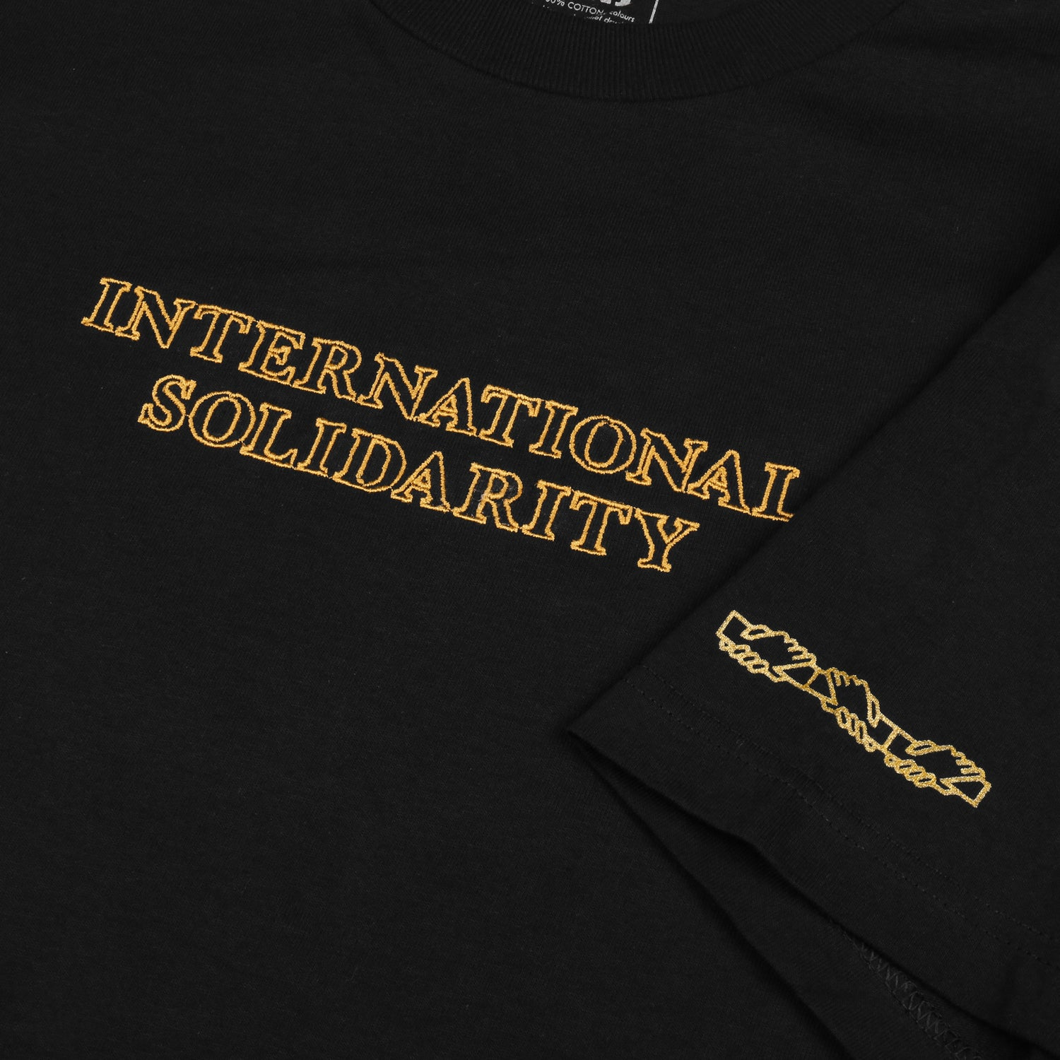 "PASS~PORT ""INTER SOLID"" TEE BLACK"