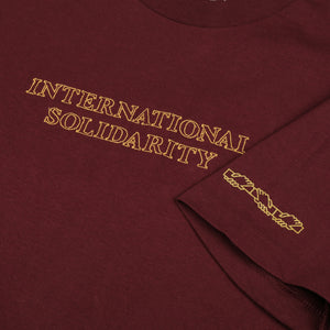 "PASS~PORT ""INTER SOLID"" TEE BURGUNDY"