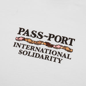 "PASS~PORT ""INTER SOLID"" TEE WHITE"