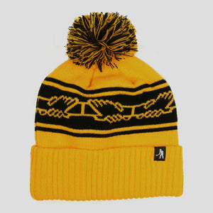 "PASS~PORT ""INTER SOLID"" POM BEANIE GOLD"