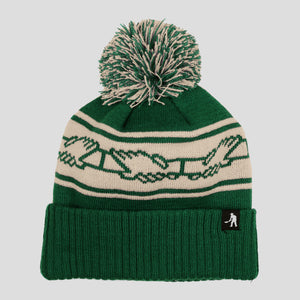 "PASS~PORT ""INTER SOLID"" POM BEANIE FOREST GREEN"