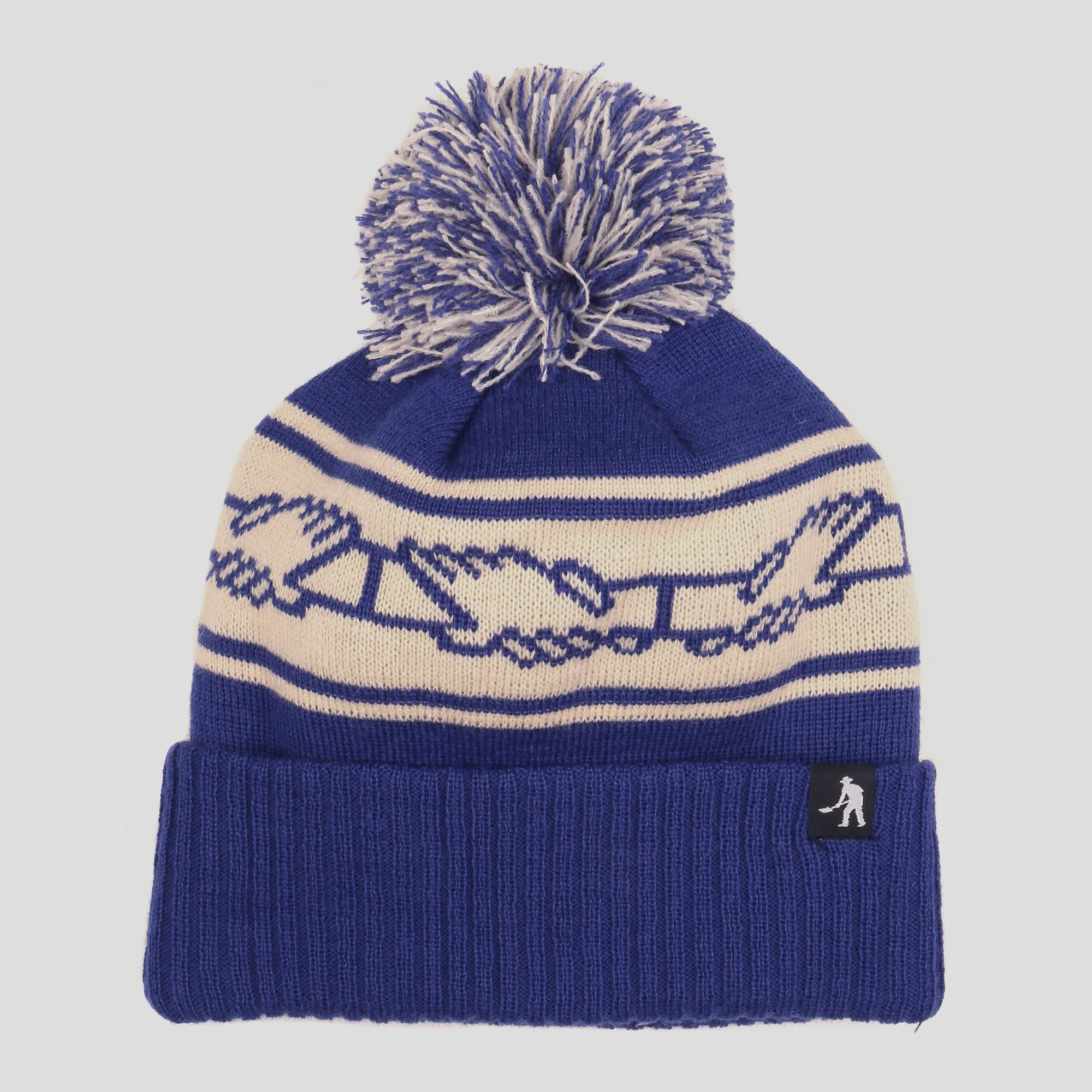 "PASS~PORT ""INTER SOLID"" POM BEANIE NAVY"