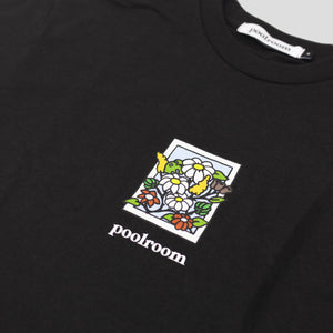 "POOLROOM ""IN BLOOM"" TEE BLACK"