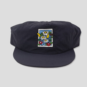 "POOLROOM ""IN BLOOM"" NYLON CAP NAVY"