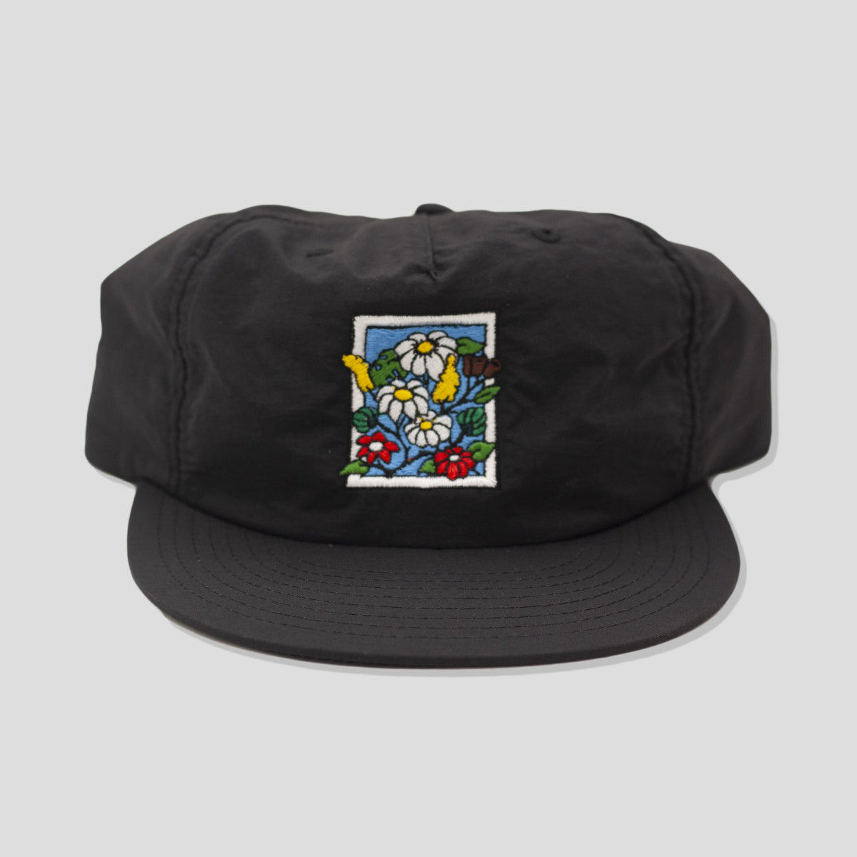 "POOLROOM ""IN BLOOM"" NYLON CAP BLACK"