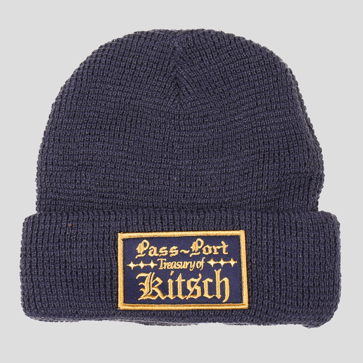 "PASS~PORT ""TREASURY"" BEANIE NAVY"